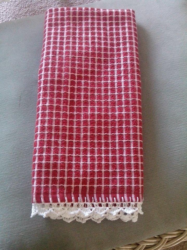 pano de cozinha com bico em crochet   para casa   Pinterest