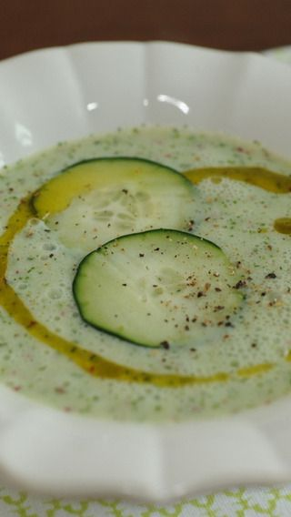 Cucumber Herb Buttermilk Soup | soup | Pinterest