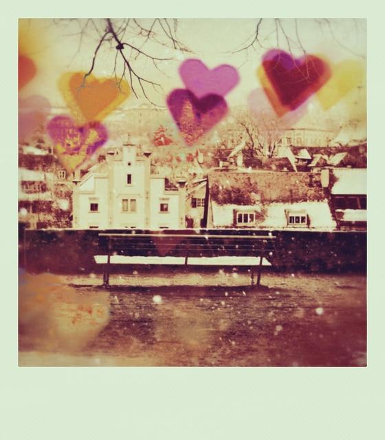 Gorgeous heart bokeh