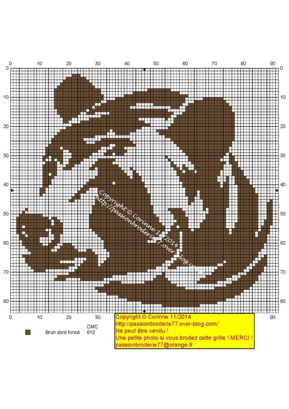 Лев схема вышивки монохром 37