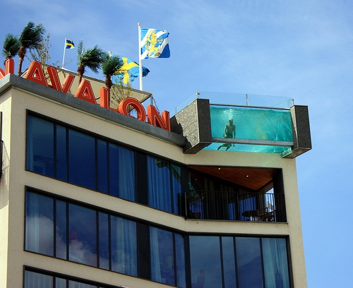 Swim in the Rooftop Pool, Gothenburg, Sweden