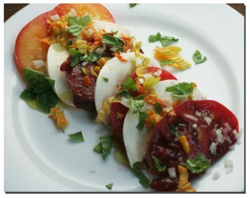 Heirloom Striped German tomato salad | Definite Cook | Pinterest
