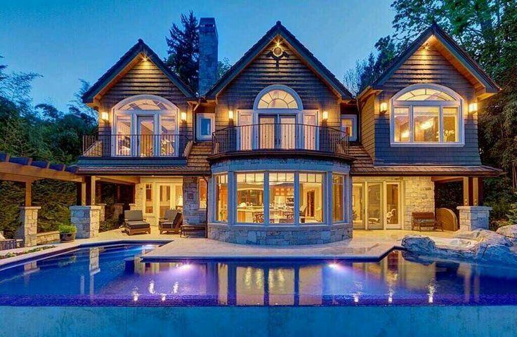 Beautiful Log Cabin Mansion My Dream Home Pinterest