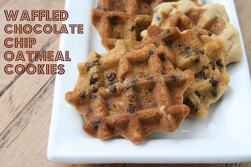 Waffled Chocolate Chip Oatmeal Cookies | Cookies | Pinterest