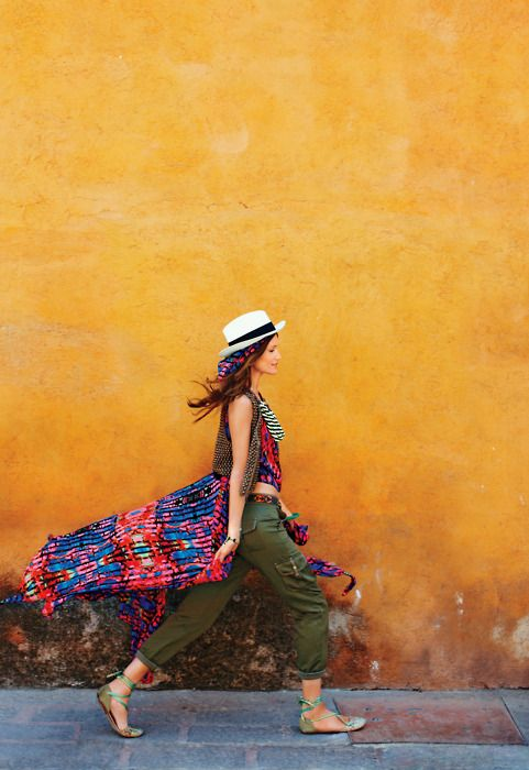 Eclectic travel style