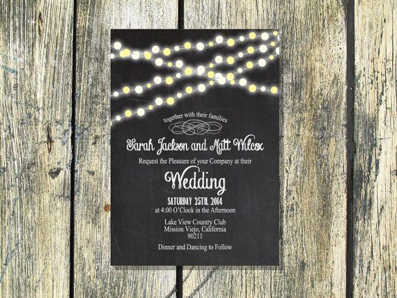 Backyard Wedding Invitations is one of our best ideas you might choose for invitation design