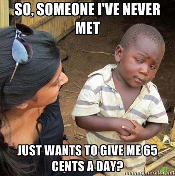 Skeptical third world kid.