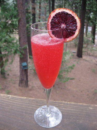 blood orange french 75 | Food - Beverages:Imbibe | Pinterest