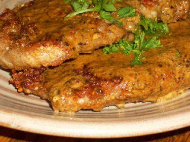 "Recipe for ""Breaded"" Pork Chops with Mustard Sauce (Gluten-Free and..."