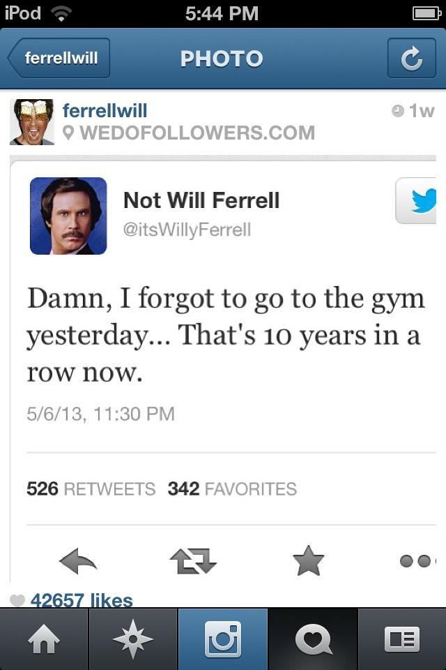 Hilarious Will Ferrel...