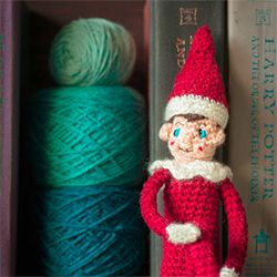 Free crochet shelf elf pattern christmas crafts pinterest