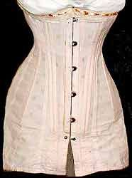 Corset Summer Brocaded Pink Edwardian 1908 to 1904