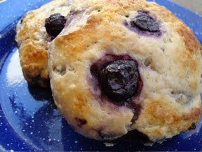 Buttermilk Blueberry Scones- I use raspberries and blackberries too.