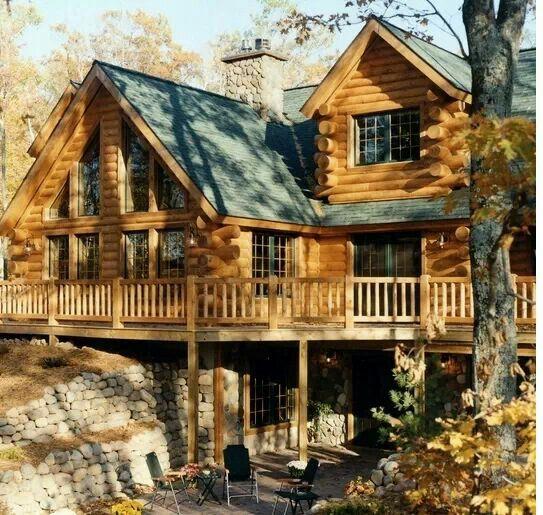 Beautiful Log Home Beautiful Architecture Pinterest