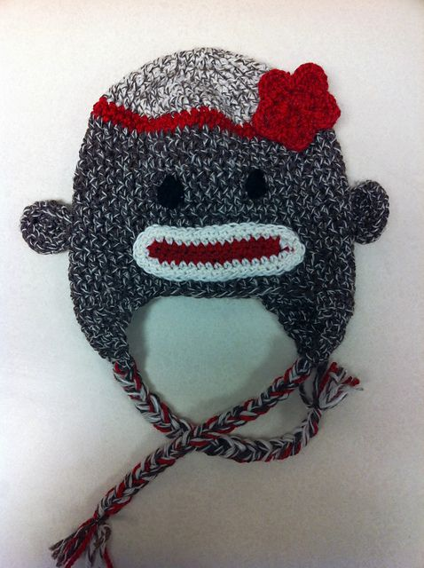 Free Crochet Pattern Sock Monkey Hat For Baby : Crocheted Sock Monkey Hat head to toe crochet Pinterest