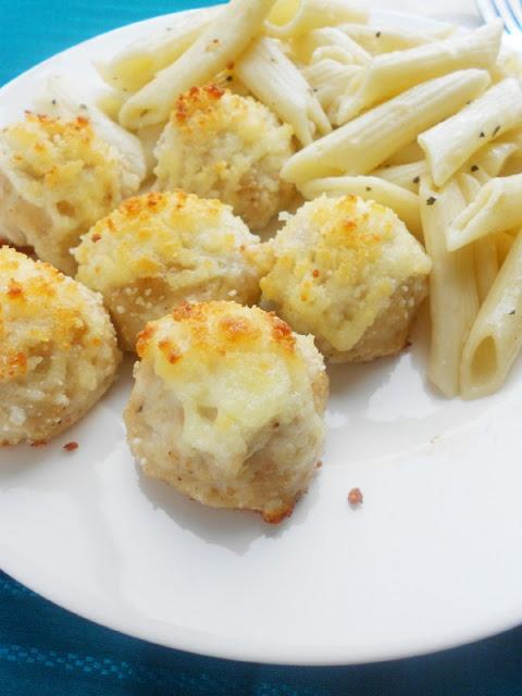 Cheesy Chicken Meatballs | Recipes | Pinterest