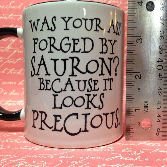 Funny lord of the rings hobbit mug forged by sauron coffee mug 12
