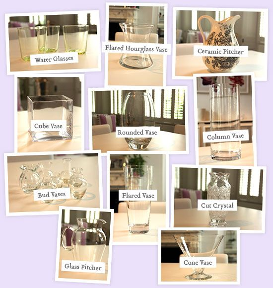 how to arrange flowers in different types of vases