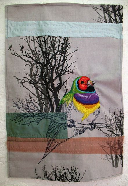 Tara Badcock for Circle of Designers, Gouldian Finch 2012 by Tara Badcock, via Flickr