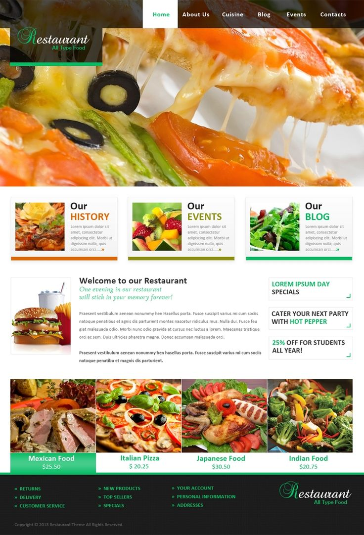 Free Bootstrap 4 Restaurant Template for Creating Food - oukas.info