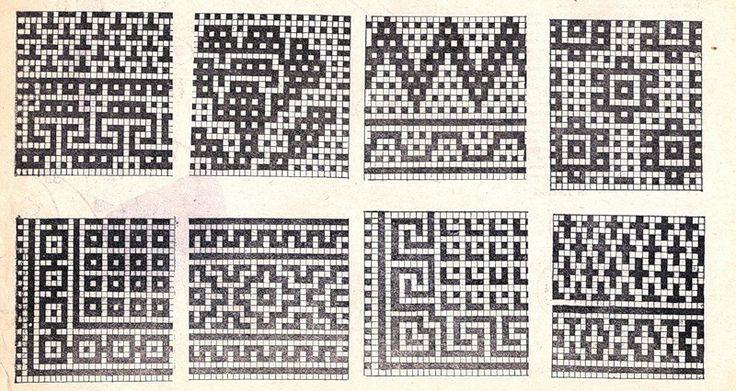 Вязание ленивых жаккардовых узоров схемы 957