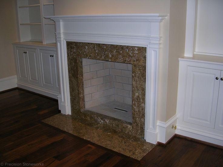 Atlanta Granite Fireplace Marron Cahiba http://precisionstoneworks.com ...