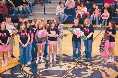 Pep rally ideas claiborne progress pepped up for pink out pep