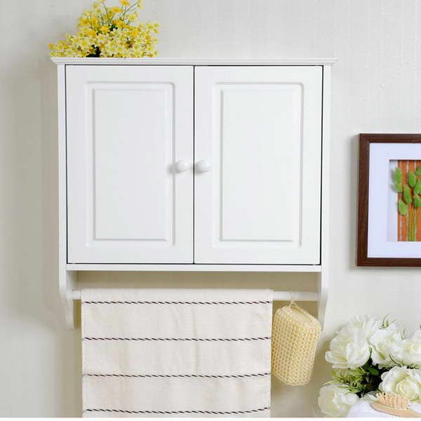 cabinet with towel bar...