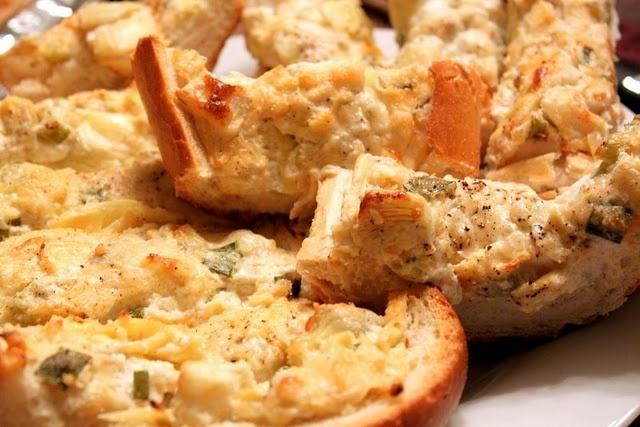 Baked Artichoke Bread | Appetizers | Pinterest