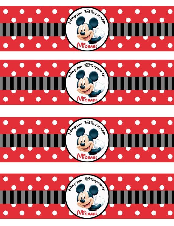 Mickey Bottle Label   Party Ideas - Mickey   Pinterest