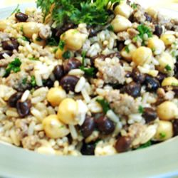 Middle Eastern Rice with Black Beans and Chickpeas Allrecipes.com