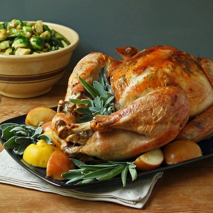 Easy Roasted Turkey w/ Sage Butter | Thanksgiving ideas | Pinterest