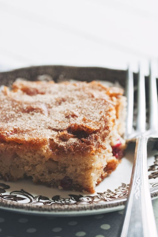 apple cranberry snacking cake | Rosy Cranberries | Pinterest