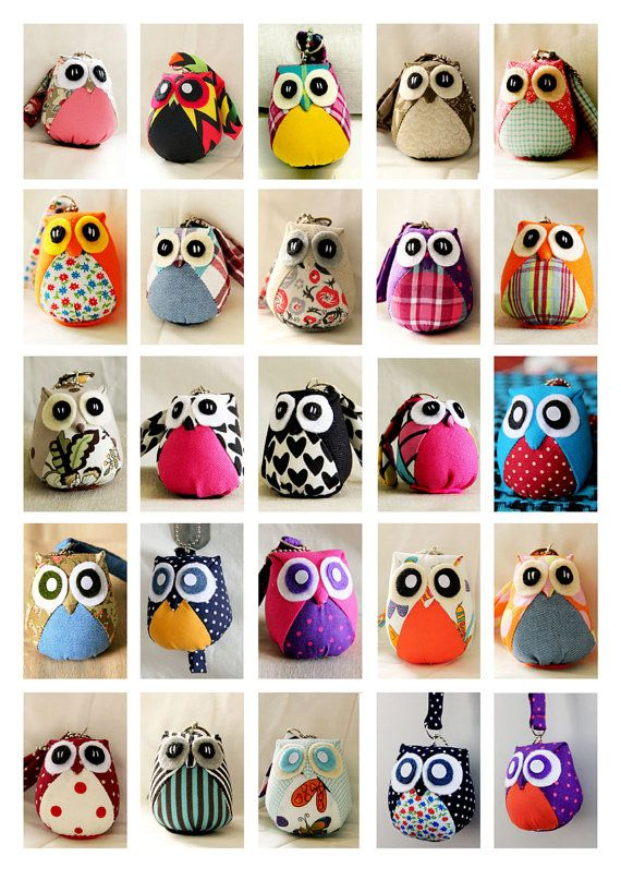 Custom Medium Owl Doll with bag and keychain by iammieCozyShop, $15.00