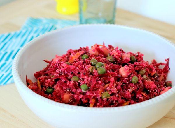High Protein Quinoa Almond Berry Salad Recipe — Dishmaps