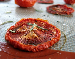 slow-roasted tomatoes (from Dorie Greenspan's book) - the perfect cure ...