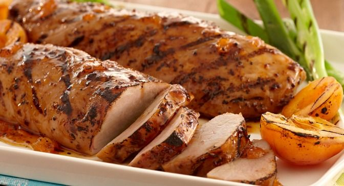 Grilled Apricot Glazed Pork Tenderloin | Recipe