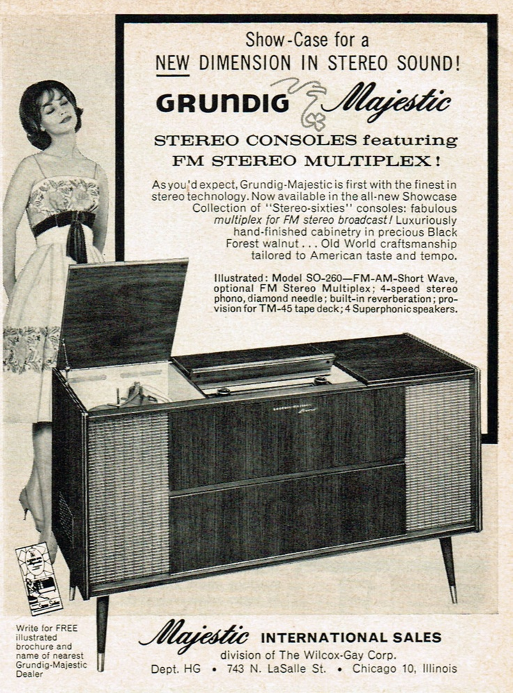 Grundig Majestic Stereo Consoles, 1962