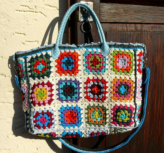 Crochet Granny Square Bag : granny square bag crochet(and a little knit) Pinterest