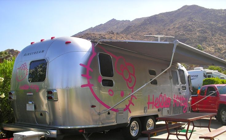 "#HelloKitty #Airstream Click to peek inside & be ready to ""WOW!"""