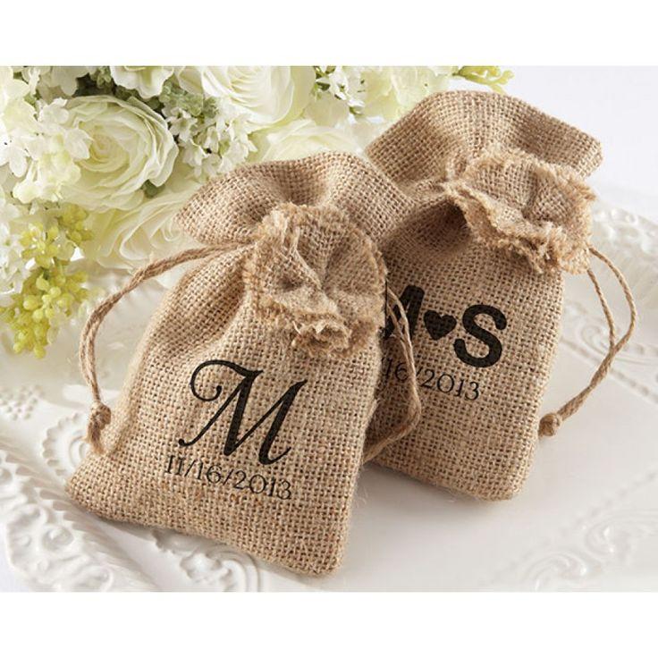 Burlap Wedding Favor Bags Wholesale : Bags (Set of 12) [528-29035NA Burlap Favor Bags] : Wholesale Wedding ...