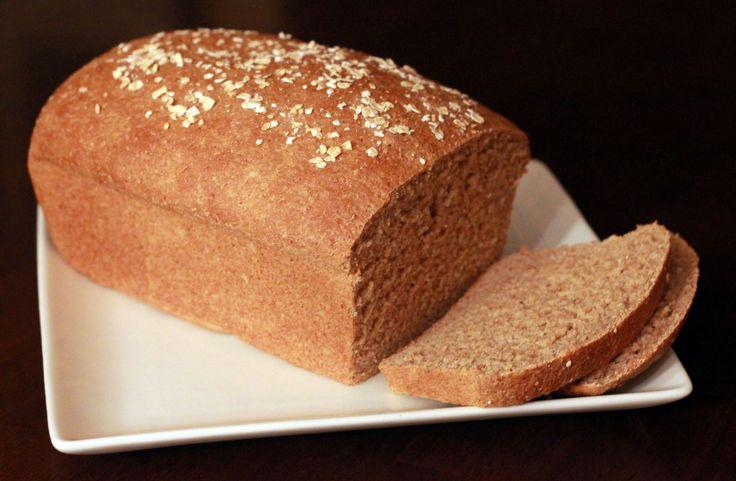 Honey Oat 100% Whole Wheat Bread Recipe | Food & Recipes | Pinterest