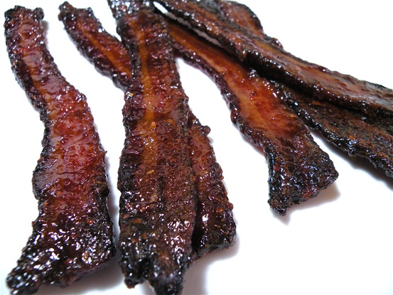 Spicy Candied Bacon Recipe — Dishmaps