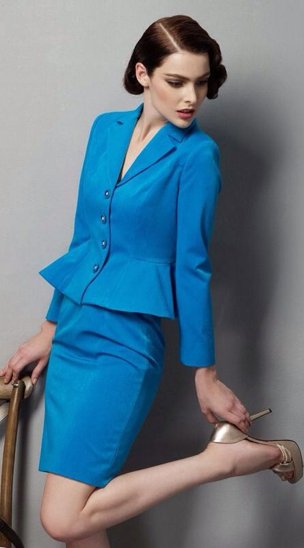 bright blue suit clothes and fashion trends