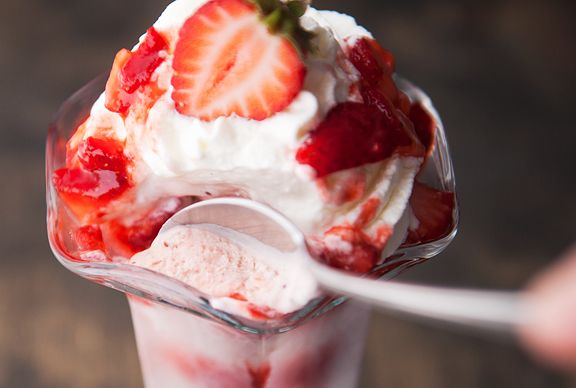ROASTED strawberry ice cream! (strawberries are roasted w/ balsamic ...