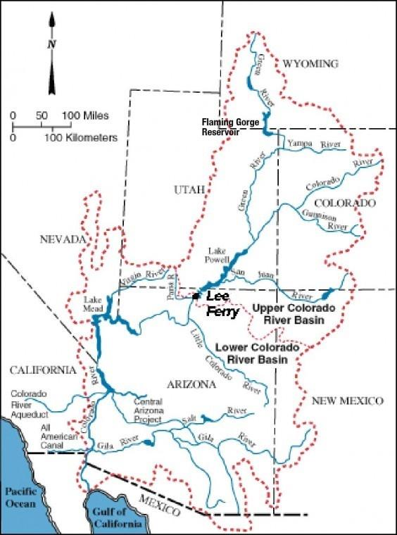 Colorado River Map | Geography Geek | Pinterest