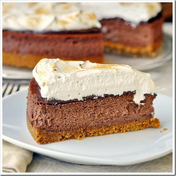 mores Cheesecake | Cheesecake Heaven | Pinterest