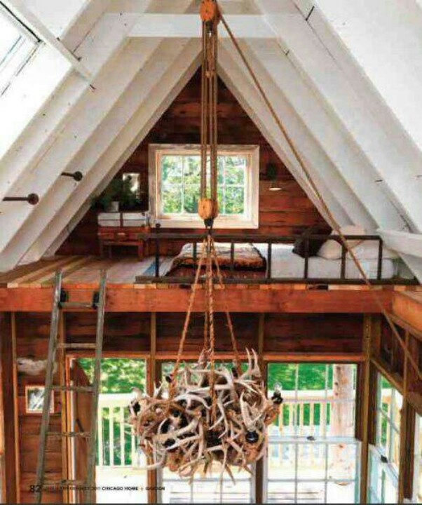 a frame loft cabin plans pinterest