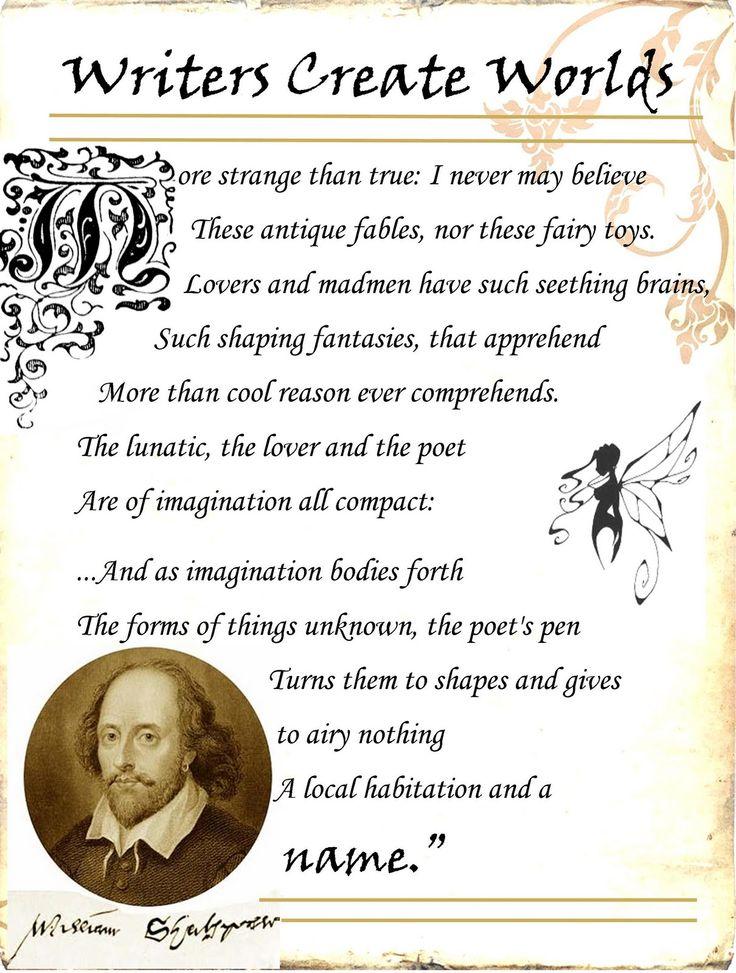 shakespeare writing