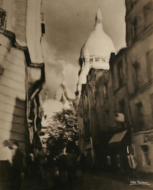 """Paris 1951  Albert Monier  """"Montmartre"""""""